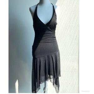 Black cocktail dress w/ silver specs
